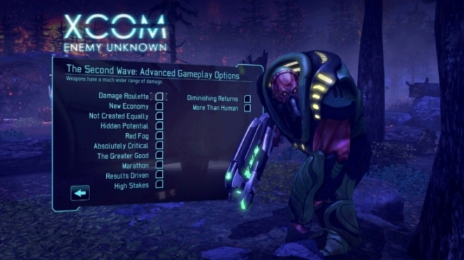 Second Wave é o nome dado ao New Game+ em XCOM: Enemy Unknown