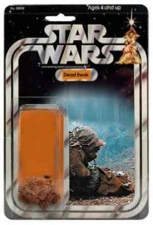Exceto o action figure do Ewok morto. Esse era legal