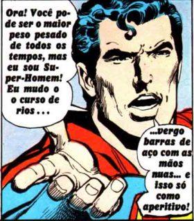 Super-Homem conta vantagens sobre seus poderes